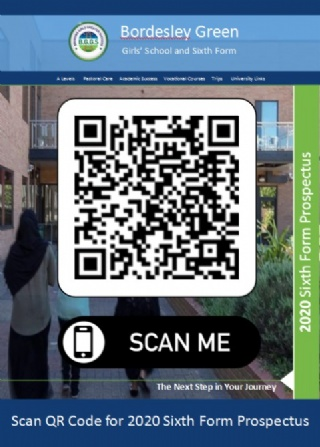 QR Code posters promote 6th Form